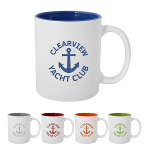 11 Oz. Pop Of Color Engraved Mug